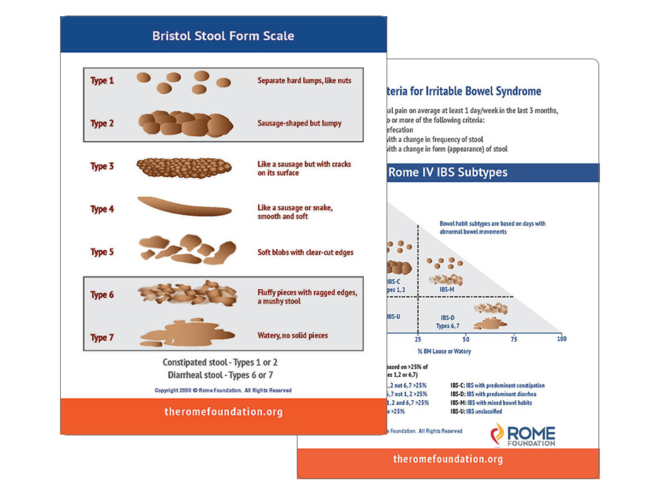 Rome Foundation, Bristol Stool Chart Card-2021