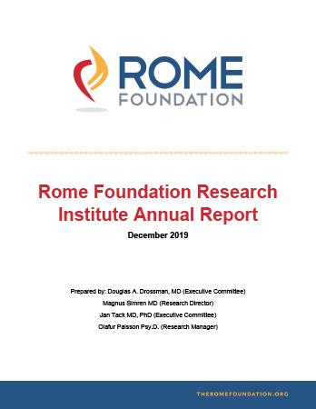 Rome Foundation Research Institute Annual Report 2019